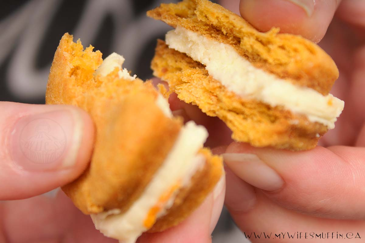 Carrot and Orange Buttercream Sandwich Cookies| @MyWifesMuffin
