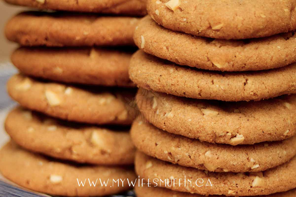 Stack of Pumpkin Spice Cashew Cookies  via @MyWifesMuffin